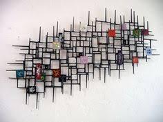 Mid Century Tile Wall Art
