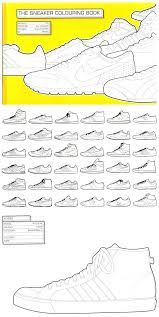 Jordan Sneaker Coloring Book The Colouring Pdf Online Full Size