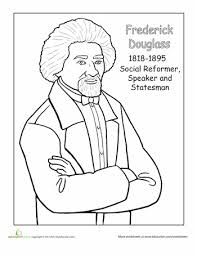 Frederick Douglass Coloring Page Seasons WorksheetsSchool HolidaysSchool FunBlack History MonthColoring