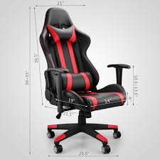 high back racing gaming chair race car seat office desk adjustable