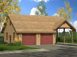 Garage Plan With Carport Is A 1472 Sq Ft 1 Story 2 Car Country Style Quality Plans Floor And Blueprints