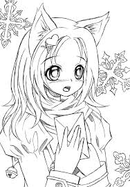 12 Pics Of Anime Cat Girl Warrior Coloring Pages