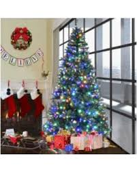 9 Pre Lit Artificial Christmas Tree Premium Hinged W 1000 LED 8Ft Green
