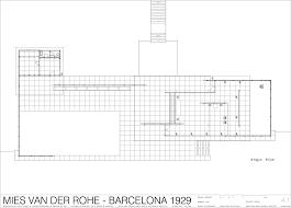 100 Barcelona Pavilion Elevation German Spain By Mies Van Der Rohe 1929 Mies