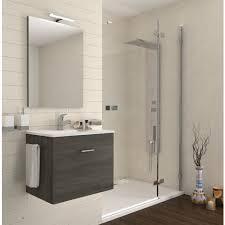 badezimmer badmöbel 60 cm aus eiche dunkel holz mit schublade und keramik waschtisch dunkle eiche 60 cm standard