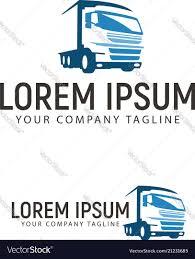 100 Trucking Company Logo Transportation Logo Design Concept Vector Image