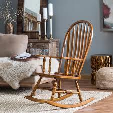 Kitchen Chair Cushions Walmart by Belham Living Wood Nursery Rocker Natural Hayneedle