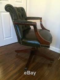 Sparco Office Chair Uk by Green Leather Chesterfield Captains Chair Bespoke Office Chair