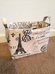 paris themed bathroom set paris themed fabric storage basket