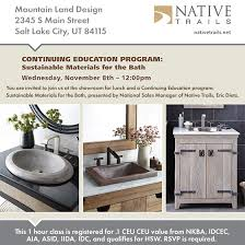 Native Trails CEU Lunch and Learn MOUNTAIN LAND DESIGN