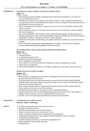 Download Operations Manager Global Resume Sample As Image File