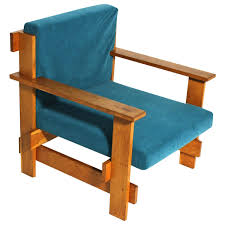 Bauhaus Lounge Chair in the Style of Josef Albers Germany 1920s