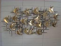 Mid Century Metal Wall Art SOLD
