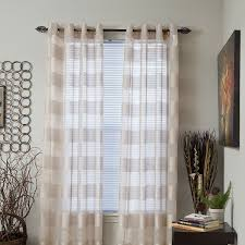 White And Gray Blackout Curtains by Amazon Com Lavish Home Sofia Grommet Single Curtain Panel 84