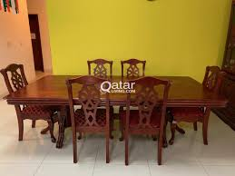 Large Dining Table (4 Ft X 8 Ft) With 6 Chairs   Qatar Living Poupard Tent Rental Monroe Mi Party Graduation Lifetime 8 Foldinhalf Table Almond 80175 Walmartcom Fniture Tremendous Folding Tables Walmart For Alluring Home 244x76cm Chair Galds_244_8kresli Foot Fresh Pnic Solid Wood Ding Room Lovely Kitchen Chairs Elegant 13 Best Of How Many At Pics Mvfdesigncom Antrader 24pcs Round Shape Pvc Rubber Covers Soldedwardian Period Foot Mahogany Riley Snooker Ding Table Foot Italian Marquetry Queen Anne Syo 4 Leg