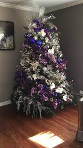 Christmas Tree Bead Garland Uk by Christmas Tree Purple And Silver Christmas Trees Pinterest