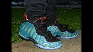 100 Space Jam Foams Blue Foams Shoes Nike Commercial