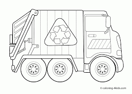 100 Garbage Truck Kids Dump Coloring Pages Coloring Pages For