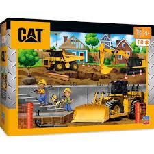 100 Kidds Trucks Caterpillar In My Neighborhood Construction 60 Piece Kids