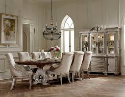 Von Furniture Rovledo Formal Dining Room Set With Pedestal Table Elegant Chairs Regard To House
