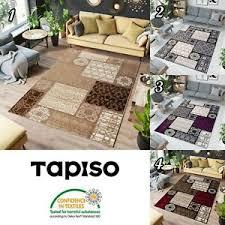 details zu teppich kurzflor designer marokkanisch mosaik muster ideal für wohnzimmer ökotex