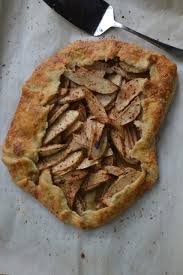 Rustic Apple Tart With White Wine Syrup Minced