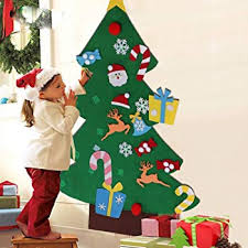 IFLOVE DIY Felt Christmas Tree Set 26pcs Detachable Ornaments Xmas Gift Door Wall Hanging Decoration