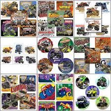 Monster Jam Stickers And Monster Jam Tattoos - Monster Trucks ... Monster Jam Birthday Party Supplies Impresionante 40 New 3d Beverage Napkins 20 Count Mr Vs 3rd Truck Part Ii The Fun And Cake Blaze Invitations Inspirational Homemade Luxury Birthdayexpress Dinner Plate 24 Encantador Kenny S Decorations Fully Assembled Mini Stickers Theme Ideas Trucks Car Balloons Bouquet 5pcs Kids 9 Oz Paper Cups 8 Top Popular 72076