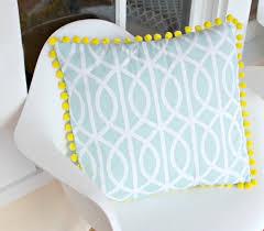 $3 Fabric Napkins to cute} Pom Pom Pillow Cover