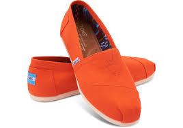 toms womens canvas classics in orange lyst