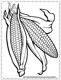 Corn Coloring Pages For Thanksgiving Printable