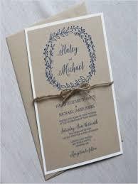 Rustic Wedding Invitation Modern Kraft Simple Weddbook