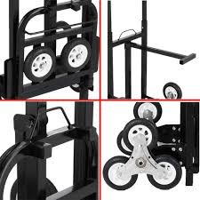 VEVOR Stair Climbing Cart 45 Inches Portable Hand Truck 2X Three ...