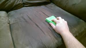 Give microfiber furniture a few shots of alcohol and a good scrub
