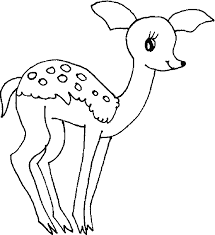 Cute Deer Coloring Pages For Kids
