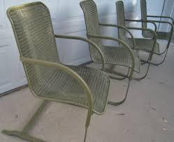 Vintage Wicker Bouncy Chairs By Lloyd Loom Set Of 4 Original Mid ...