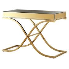 iohomes sunkissed modern mirrored sofa table brass target