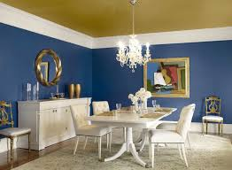 Blue Dining Room Painted Ceiling