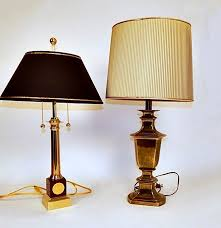 Stiffel Brass Lamp Value by Vintage Stiffel Brass Trophy Lamp And Office Lamp Ebth