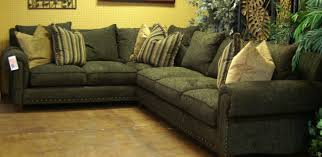 Brown Corduroy Sectional Sofa by Robert Michaels Furniture Direct Furnishings Outlet