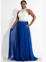 rachel allan curves 7838 beaded waist plus size prom gown