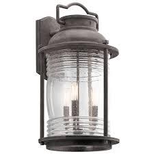 ashland bay 3 light outdoor wall lantern in wzc
