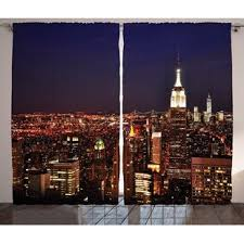 New York Skyline Curtains