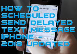 How to Scheduled Send Delayed Text Message iPhone 2018 Updated