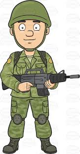 A Female Us Army Military Police Officer Cartoon Clipart
