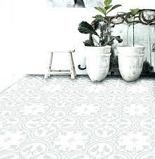 Black And White Vinyl Sheet Flooring Designer Linoleum