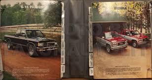 100 1989 Gmc Truck GMC Color Upholstery Dealer Album Original