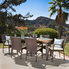 Cordella Outdoor 7-piece Wood Dining Set With Cushions By Christopher  Knight Home Outdoor Resin Ding Sets Youll Love In 2019 Wayfair Mainstays Alexandra Square 3piece Outdoor Bistro Set Garden Bar Height Top Mosaic Small Alinium And Tall Indoor For Home Bunnings Chairs Metric Metal Big Modern Patio Set Enginatik Patio Sets Tables Tesco Grey Sandstone Sainsbur Tableware Plans Wicker Hartman Fniture Products Uk Wonderful High Ding Godrej Squar Glass Composite By Type Trex