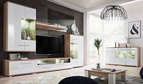 pmmarket wohnzimmer weiß hochglanz möbel hoch display