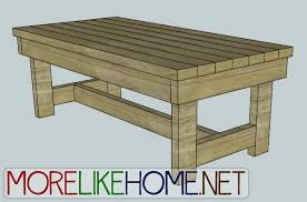 more like home day 13 build a chunky coffee table
